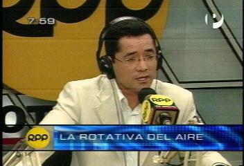 Armando canchanya en rpp durante sismo