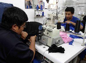 Trabajadores Mype en el rubro textil