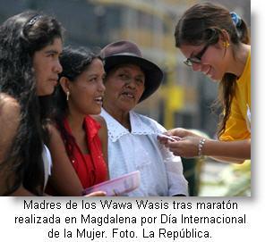 Foto de archivo por el Día Internacional de la Mujer - Evento realizado en Magdalena año 2009