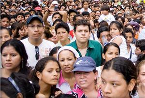 Foto de muchedumbre aglomerada