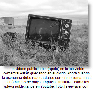 Los videos publicitarios en youtube cada vez ganan más terreno frente a la televisión comercial.