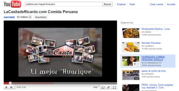 Foto video publicitario la casita de ricardo en youtube