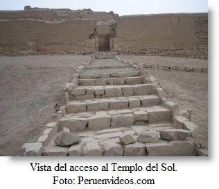 Foto de la entrada al Templo del Sol en Pachacámac - Lurín Perú.