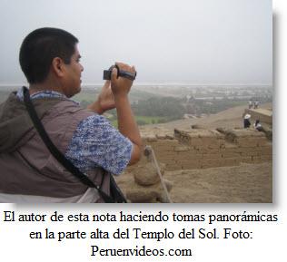 En la parte alta del Templo del Sol se puede apreciar el mar y el Valle de Lurín.