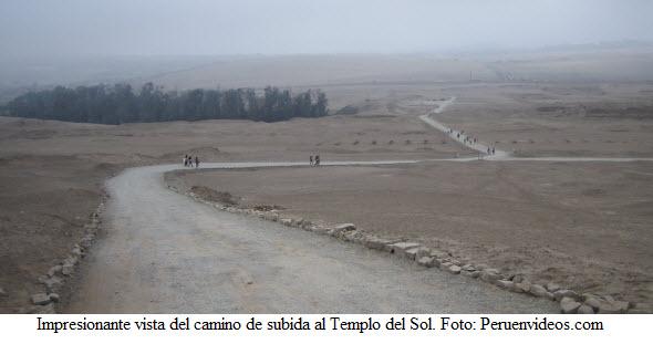 Ruta de acceso para visitar el Templo del Sol - Ruinas de Pachacámac.
