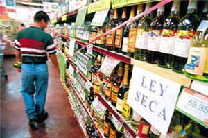 prohibición de venta de bebidas alcoholicas