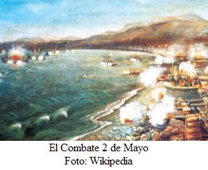 Combate 2 de Mayo de 1866 en el puerto del Callao