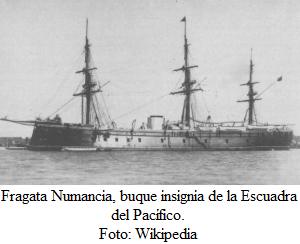Fragata Numancia, el único barco blindado
