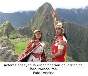Actores ensayan escenificación del Inca Pachacútec
