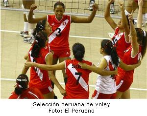 Selección de voley peruano en gira por Europa