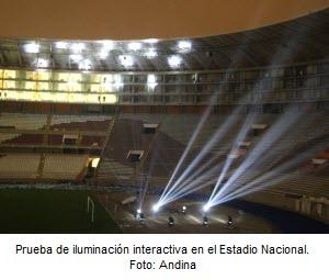Iluminación interactiva en el Estadio Nacional