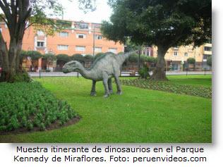 Hasta el 10 de octubre hay exhibición de réplicas de dinosaurios en Parque Kennedy.