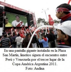 Monitores gigantes en Lima y Callao para partido Perú-Paraguay - noticias