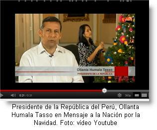 Mensaje a la Nación del Presidente Ollanta Humala por la Navidad 2011