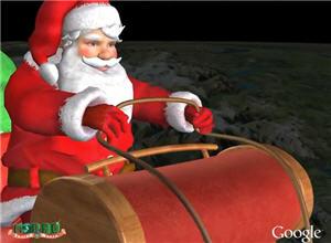 V iaje de Papa Noel, Google Earth, google Maps - noticias