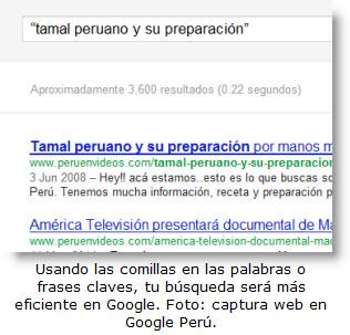 Tips para que tus búsquedas en Google sean más eficientes y rápidas.