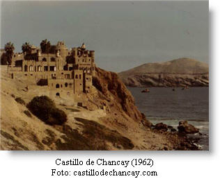 Chancay castle in front of the sea, in Lima