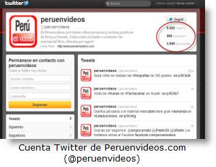 Imagen de cuenta Twitter de peruenvideos.com