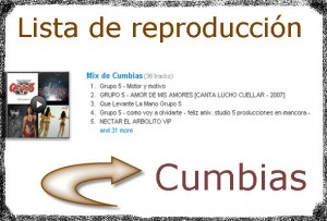 Lista de reproducción de cumbias peruanas y colombianas.