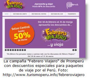 Sigue en marzo 2012 la campaña Febrero Viajero de Promperú