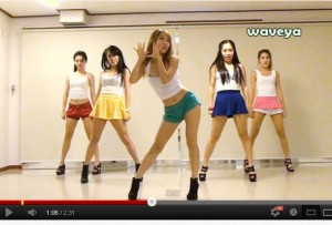 Chicas coreanas enseñan a bailar Gangnam Style de PSY - El baile del caballo