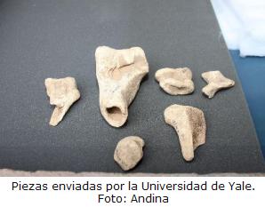 piezas de Machu Picchu enviadas por la universidad de Yale - noticias