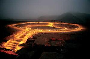 Fotografía de una de las civilizaciones más antiguas de América, Caral.