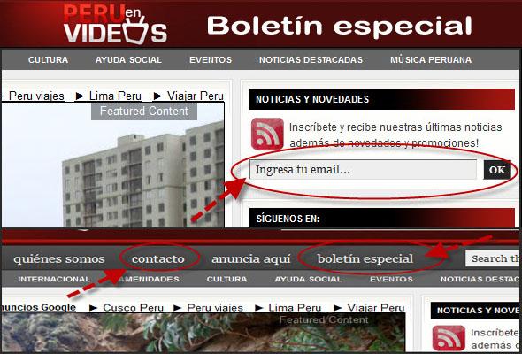 Contactar a Peru En Videos