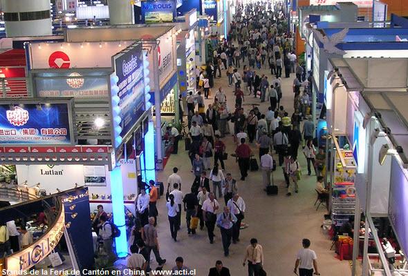 Stands en la Feria de Canton en China