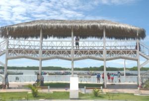 Vista panorámica de Puerto Pizarro en el departamento de Tumbes, Perú