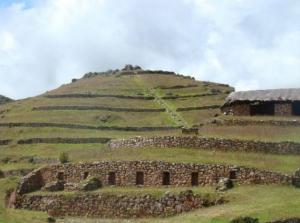 Vista panorámica de Sondor en el departamento de Apurimac en Perú