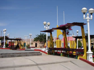 Plaza principal de Locumba