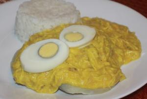 aji de gallina en la gastronomia peruana