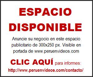 Quiero saber el precio del banner publicitario de 300x250 en la web peruenvideos.com