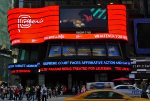 Marca Perú en Time Square