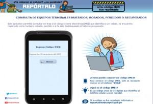 Reporta ante Osiptel si su teléfono móvil fue perdido, robado o recuperado.
