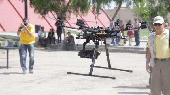 drones en busca de vestigios arqueológicos