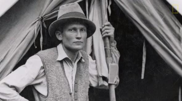 Hiram Bingham en Machu Picchu