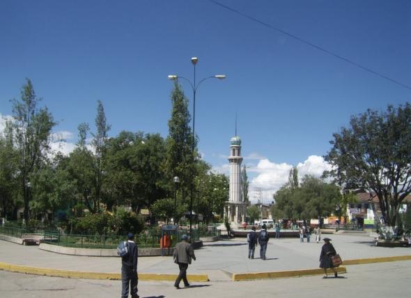 Plaza Independencia en Junín