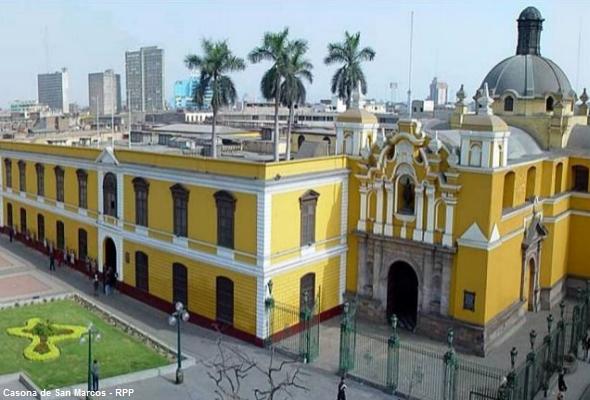 Casona de San Marcos en Lima, hoy convertida Centro Cultural e importante atractivo turístico para conocer en la capital peruana.