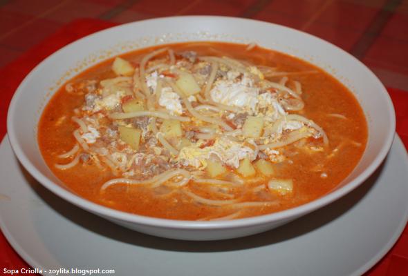 origen de la Sopa Criolla