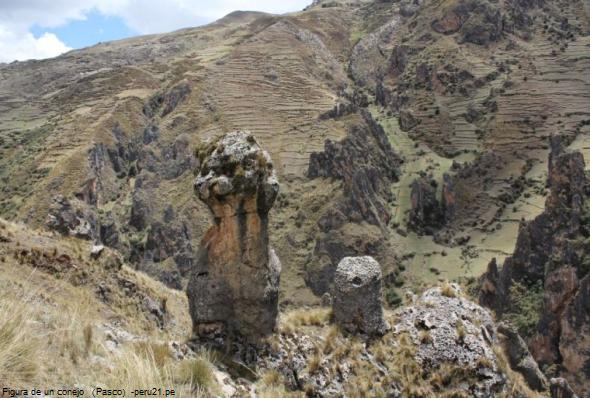 figura de piedra en Vilcabamba