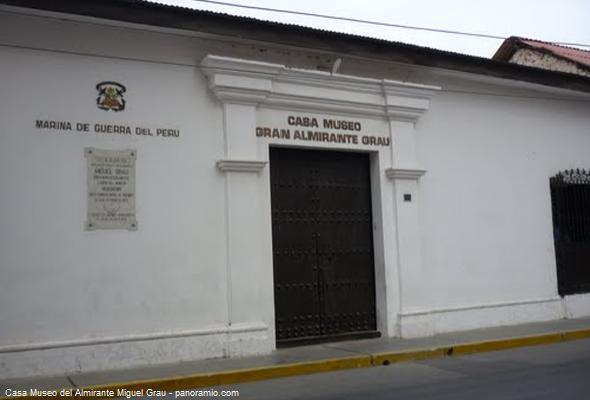 Museo en la casa de Miguel Grau en el norte del Perú