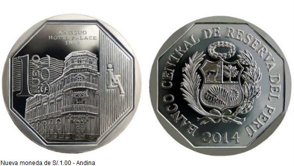 moneda S/.1.00 del antiguo Hotel Palace de Loreto