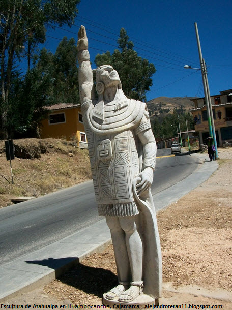 imagen de Atahualpa en Huambocancha