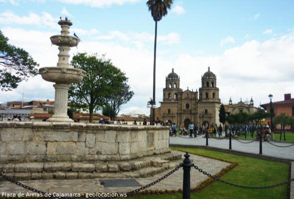 Pileta de la Plaza Mayor de Cajamarca