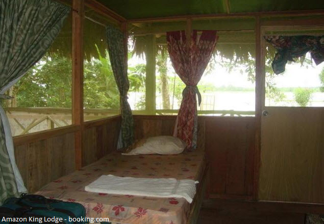 habitación de ecolodge de Iquitos