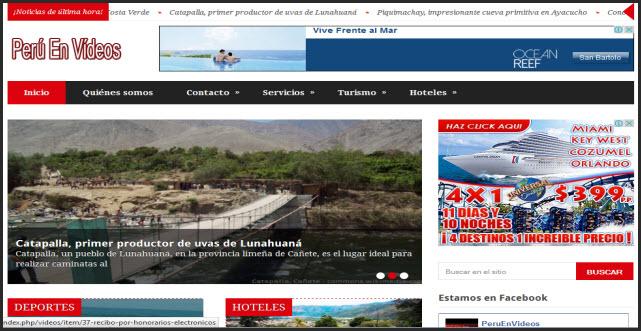 portada nueva de Perú en Vídeos