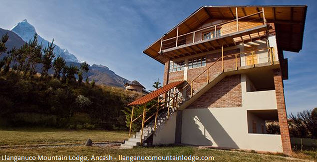 hotel en el ingreso del Parque de Huascarán
