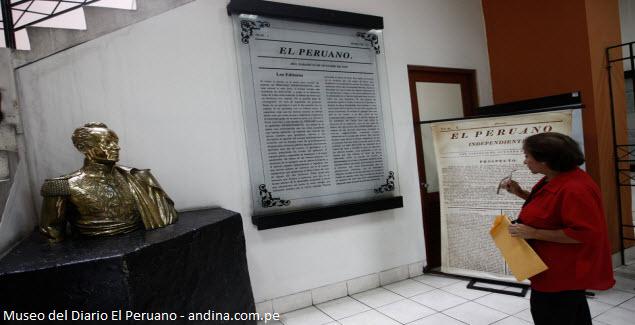 busto de Simón Bolívar en El Peruano